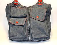 Женская сумка из джинсовых штанов
