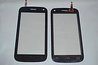 Оригинальный тачскрин / сенсор (сенсорное стекло) для Fly IQ450 Quattro Horizon 2 (черный цвет) + СКОТЧ