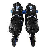 Роликові ковзани SportVida 4 в 1 SV-LG0030 Size 39-42 Black/Blue, фото 2