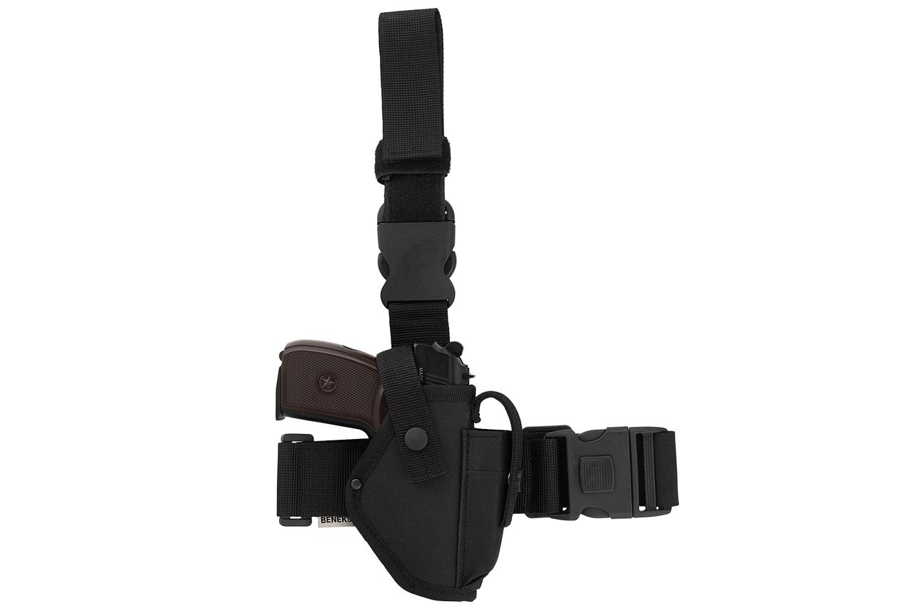 Кобура для ПМ-пистолета Макарова набедренная Эконом, кобура на ногу (oxford 600d, чёрная)