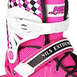 Роликовые коньки Nils Extreme NA13911A Size 39-42 Pink, фото 7
