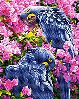 "Алмазная картина-раскраска по номерам Brushme ""Яркие попугаи"" 40х50 см"