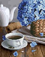 "Алмазная картина-раскраска по номерам Brushme ""Чай с цветочным ароматом"" 40х50 см"