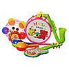 Набір музичних інструментів (барабан,бубен,маракаси,гітара,дудочка)