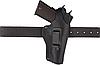 Кобура Colt 1911 поясна не формована з кліпсою (шкіра, чорна), фото 3