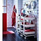 Косметологічний візок майстра косметолога перукаря White Calissimo для салону краси, фото 2