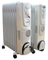 Маслонаполненные электрорадиаторы Н1124В, 2 кВт (11секций) Термия с вентилятором