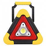 Прожектор акумуляторний знак аварійної зупинки JX-7709, фото 2