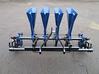 Чесночная сажалка ТМ АгроМир (4-ряд., ложки Ø24,5 мм, регулировка шага посадки, для минитрактора)