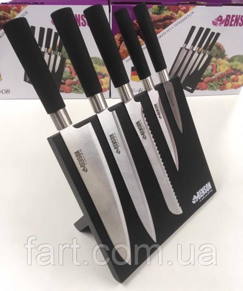 Дерев'яна підставка для ножів з магнітом Benson BN-002