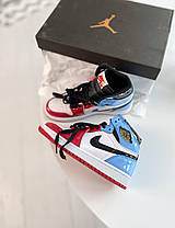 Женские мужские кроссовки Nike Air Jordan 1 Retro High Fearless Blue Red Найк Аир Джордан 1 Ретро CK5666-100, фото 2