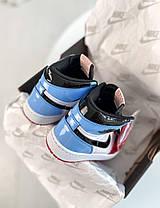 Женские мужские кроссовки Nike Air Jordan 1 Retro High Fearless Blue Red Найк Аир Джордан 1 Ретро CK5666-100, фото 3