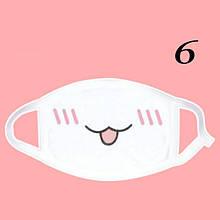 Защитная маска для лица белая Аниме (женская,детская,мужская)