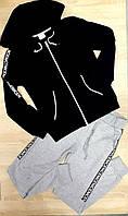 """Спортивный подростковый костюм""""NICE"""" для девочки 5-12 лет,черный с серым"""