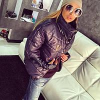 """Женская зимняя куртка """"Valentino """" черная  OJ-052"""