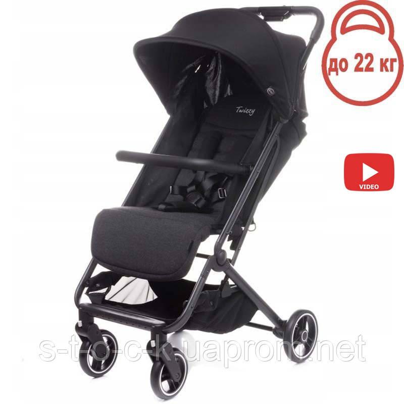 Дитяча прогулянкова коляска 4BABY TWIZZY LIGHT Black (чорний)