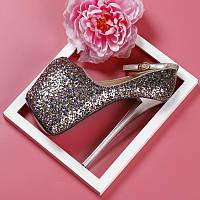 Шикарні туфлі блискітки на високому 19 см підборах