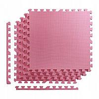 Мат-пазл (ласточкин хвост) 4FIZJO Mat Puzzle EVA 120 x 120 x 1 cм 4FJ0079 Pink