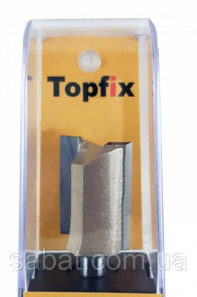 Фреза пазовая прямая с двумя ножами D12мм H30мм Topfix