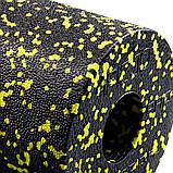 Масажний ролик (валик, роллер) гладкий 4FIZJO EPP PRO+ 45 x 14.5 см 4FJ0089 Black/Yellow, фото 2
