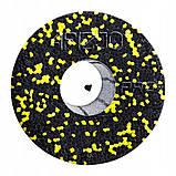 Масажний ролик (валик, роллер) гладкий 4FIZJO EPP PRO+ 45 x 14.5 см 4FJ0089 Black/Yellow, фото 3