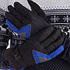 Рукавички гірськолижні універсальні ZELART Для сноуборду і лиж теплі Чорно-синьо-сірий (A-63) M-L
