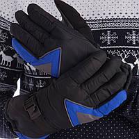 Рукавички гірськолижні універсальні ZELART Для сноуборду і лиж теплі Чорно-синьо-сірий (A-63) M-L, фото 1
