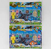 Герои Minecraft 2 вида, 8 игровых фигурок Майнкрафт, на листе J 00