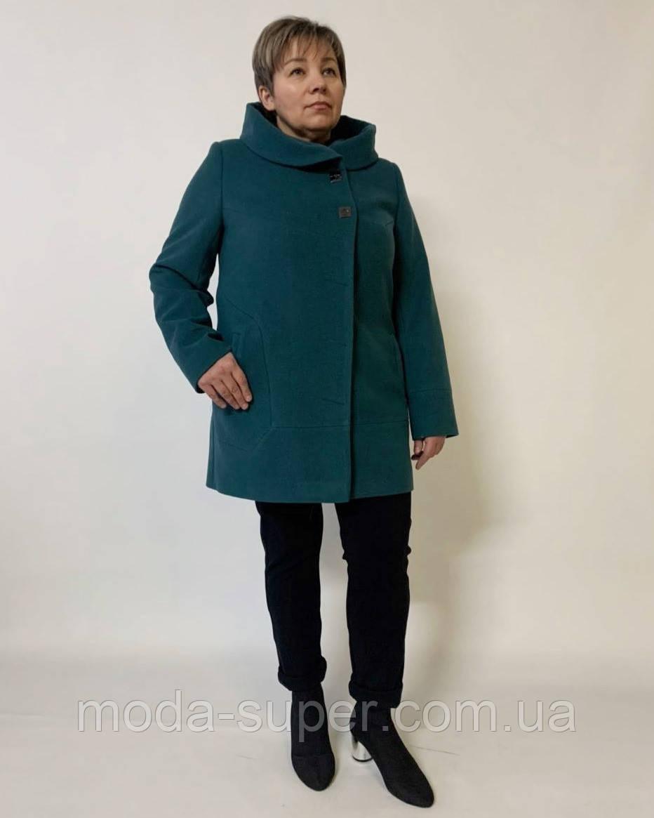 Женское пальто с капюшоном большие размеры рр 50-64