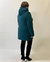 Женское пальто с капюшоном большие размеры рр 50-64, фото 3
