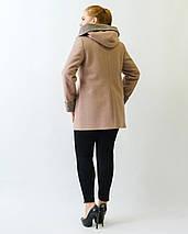 Женское  полупальто с капюшоном рр 50-62, фото 2