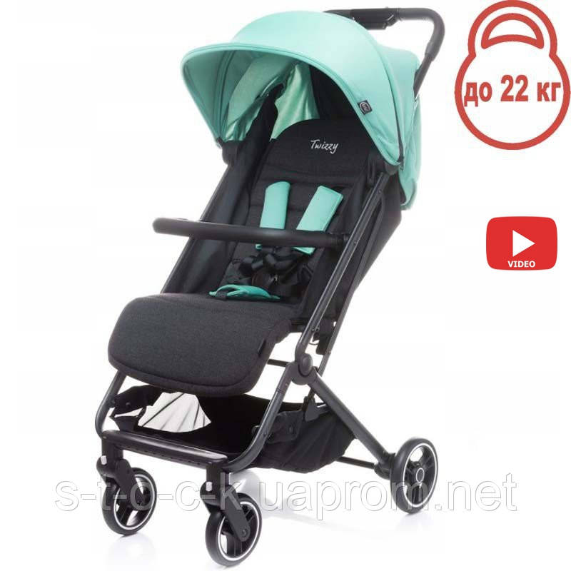 Дитяча прогулянкова коляска 4BABY TWIZZY Aqua (голубий)