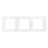 Рамка  3-поста горизонтальная белая