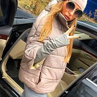 """Женская зимняя куртка """"Valentino """" латте OJ-054"""