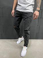 Мужские джинсы рваные 2Y Premium 5903 dark grey