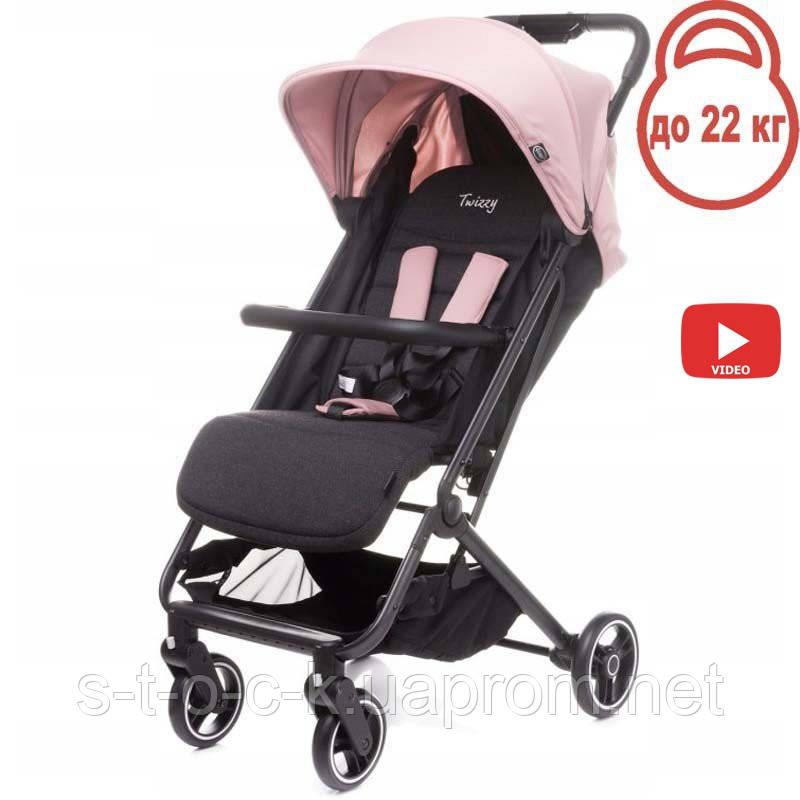 Дитяча прогулянкова коляска 4BABY TWIZZY ROSE (рожевий)