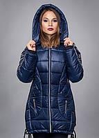 Модная женская зимняя куртка, цвет темно синий
