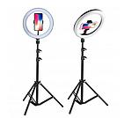 Косметическая кольцевая лампа 80W Makeup Instagram FB 220 см на штативе, фото 3