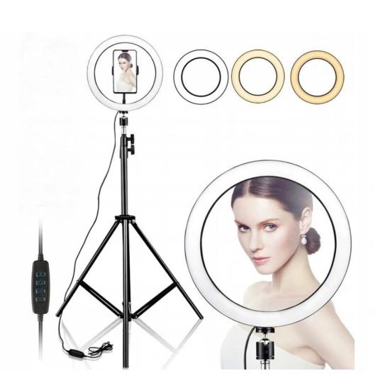 Косметическая кольцевая лампа 80W Makeup Instagram FB 220 см на штативе