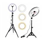 Косметическая кольцевая лампа 80W Makeup Instagram FB 220 см на штативе, фото 2