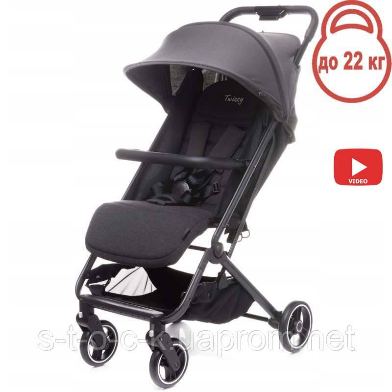 Дитяча прогулянкова коляска 4BABY TWIZZY Grey (сірий)