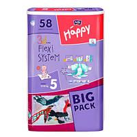 """Bella baby Happy Junior """"5"""" Детские подгузники (12-25 кг) 58 шт"""