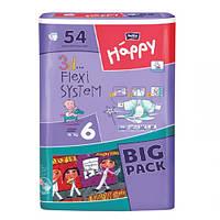 """Bella baby Happy Junior Extra """"6"""" Детские подгузники (15-30 кг) 54 шт"""