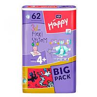 "Bella baby Happy Maxi Plus ""4+"" Детские подгузники (9-20 кг) 62 шт"