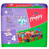 """Bella baby Happy Maxi """"4"""" Детские подгузники (8-18 кг) 12 шт"""