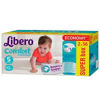 """Libero EcoTech Comfort Fit Maxi Plus """"5"""" Детские подгузники (10-16 кг) 112 шт"""