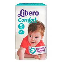 """Libero EcoTech Comfort Fit Maxi Plus """"5"""" Детские подгузники (10-16 кг) 18 шт"""