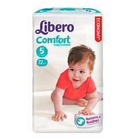"""Libero EcoTech Comfort Fit Maxi Plus """"5"""" Детские подгузники (10-16 кг) 72 шт"""