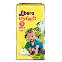 """Libero Dry Pants Maxi """"4"""" Детские подгузники-трусики (7-11 кг) 34 шт"""