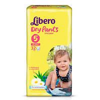 """Libero Dry Pants Maxi + """"5"""" Детские подгузники-трусики (10-14 кг) 32 шт"""